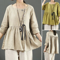 Womens Long Sleeve Button Down Embroidered Shirts Casual Loose Tunic Tops Blouse