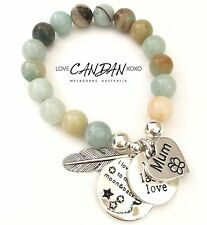 Gift Mum I Love You To The Moon And Back Bracelet Live Laugh Love Angel Charms
