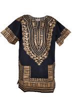 Black and Gold Traditional African Dashiki Shirt