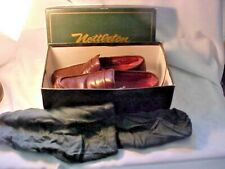 Nettleton Size 9M Brown Leather Mens Shoes Comfort Walk With Shoe Bags Good Cond