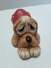 "Vintage Pendelfin ""Pooch"" Puppy Dog Hot Pink Spot Coat Stoneware England Retired"