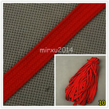 Deep Red Synthetic Silk Ito Sageo Wraping Cord for Japanese Samurai Sword Katana