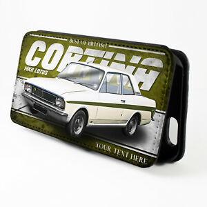 Personalised Ford Cortina MK2 iPhone Case Classic Car Flip Phone Cover Gift CL11