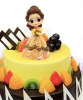 BELLE Disney Princess PVC Figure Cake Topper Toy Doll BEAUTY AND THE BEAST