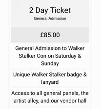 2 Walker Stalker London Wochenendtickets