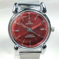 Vintage Roamer Mechanical Hand Winding Movement Mens Analog Wrist Watch AB455