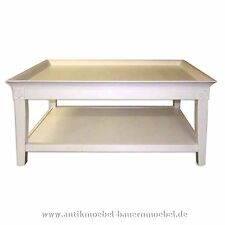 Couchtisch,Beistelltisch,Tisch,Wohnzimmertisch,Landhausstil,Weichholz,weiß