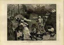 1890 Stanley Africa Village Battle Honourable Artillery Company Goose Donkey