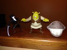 McDonalds Shrek Happy Meal toys, Donkey, Shrek And Kitty Softpaws%