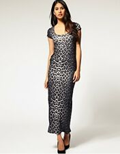 New Sexy LIPSY Leopard/Animal Print MAXI Fitted Bodycon Dress UK10 or 12 RRP£35