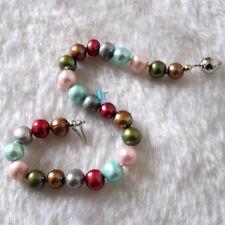 "8"" 6-8mm Multi Color Freshwater Pearl Bracelet Sm15 Single Row Pearl Jewelry"