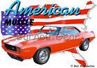 1969 Orange Chevy Camaro Z28 c Custom Hot Rod USA T-Shirt 69 Muscle Car Tees
