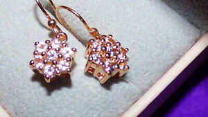 Stunning Pink Tourmaline Earrings