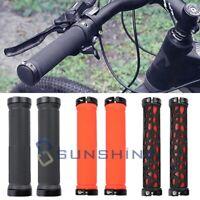 Pair Bike Mountain Bicycle Handle Anti-Skid Handlebar Soft Bar End Grips BMX MTB