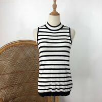 Target Collection Sleeveless Fine Knit Size M 12 Black White Career Corporate