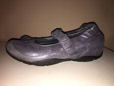 dansko Metallic Silver Leather Shoes Women Sz.41