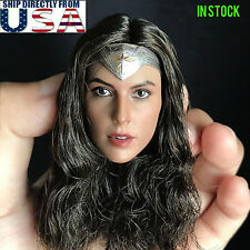 1/6 Wonder Woman Gal Gadot Head Sculpt For PHICEN Hot Toys Female Figure USA