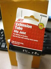 """Ace Extension Tube #4224036 1-1/2"""" X 6"""" Slip Joint NEW Free Shipping"""