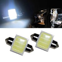 2Pcs 12Smd 31mm COB LED DE3175 Bulbs For Car Interior Dome Map Light Bulb White