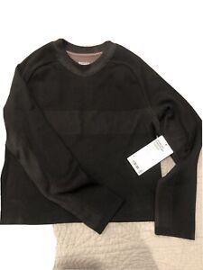 athleta seamless sweatshirt black Small