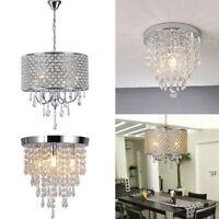 Elegant Crystal Glass Ceiling Lamp Modern Pendant Light Fixture Chandelier Light