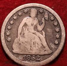 1852 Silver Philadelphia Mint Seated Liberty Dime