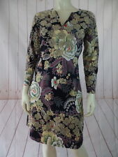 Almatrichi Dress 36 Floral Cotton Lycra Pullover Multicolor Embroidery Spain