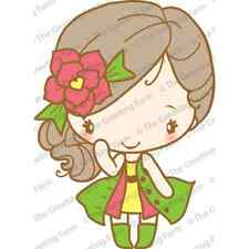 FASHIONISTA ANYA-The Greeting Farm Mount Rubber Stamp-Stamping Craft-Cards