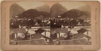 Suisse Interlaken Foto Young Stereo Vintage Albumina 1900