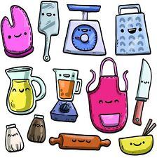 utensili da cucina in vendita - Adesivi e stencil da parete | eBay
