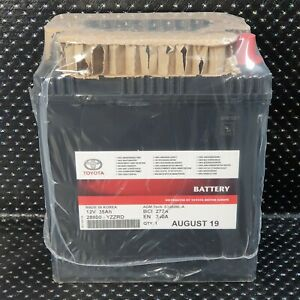 GENUINE TOYOTA YARIS 12V BATTERY HYBRID 1.5L 2012 to 2018 YZZRD BATTERY 3YEARS