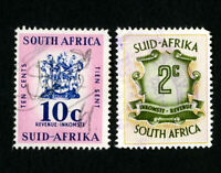 South Africa Stamps Lot of 2 Used Revenues