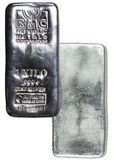 Republic Metals Corporation 1 Kilo (32.15 Oz) .999 Fine Silver Bar SKU36868