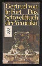Das Schweißtuch der Veronika – Gertrud von Le Fort  Roman mit Inhaltsangabe