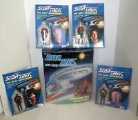STAR TREK The Next Generation Large Lot FIGURES & CASE - MINT IN BOX
