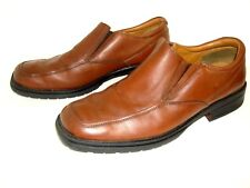 Borelli Mens Broadway Loafers Brown Leather Casual Slip On Shoes Size 11 M