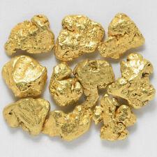 10 Pepitas De Oro Natural De Alaska Con Certificado 20Kt-23Kt 5-1 Nugget Pepita