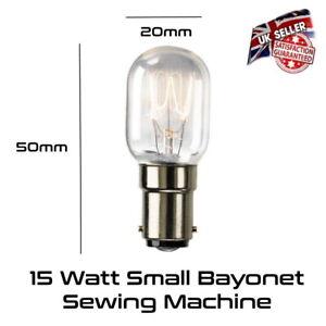 15w Sewing Machine Lamp Appliance Bulb Small Bayonet SBC B15 240v *UK Stock*