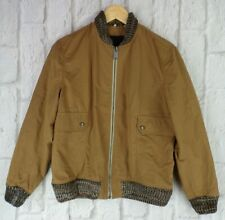 Levis Made & Crafted Lightweight Tan Brown Bomber Jacket Windbreaker £230 New S