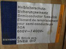 5 x SIEMENS SITOR SICHERUNGSEINSATZ 3NE8 017 50A 660V OVP NEU