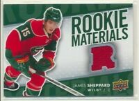 2007-08 Upper Deck Series 2 Rookie Materials James Sheppard Minnesota Wild