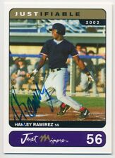 HANLEY RAMIREZ #56 2002 Just Minors Justifiable ON CARD AUTO RC 135/500 RED SOX
