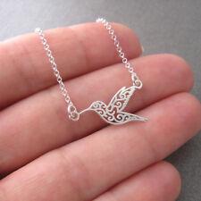Collier minimaliste motif colibri petit oiseau en argent 925/1000e CO72