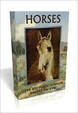 Horses - 520 public domain pictures on DVD inc. Delacroix, Da Vinci, Alken
