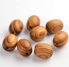 15 per Bag 25mm X 18mm Large Striped Oval Burly Wooden Beads 5mm Hole
