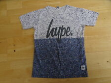 HYPE KIDS boys blue white print t shirt top AGE 11 - 12 YEARS excellent cond