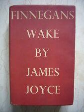 JAMES JOYCE FINNEGANS WAKE 1948 3 ED. + CARTE SIGNEE AUTOGRAPHE SYLVIA BEACH TBE
