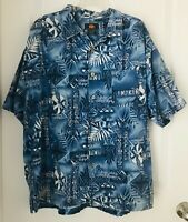 ROUTE 66 Hawaiian-Style Men's Size L Short Sleeve Shirt  100% Cotton