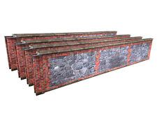 7ft STONE & BRICK WALL CARD KIT- O GAUGE / O SCALE MODEL RAILWAYS 7mm 1:43