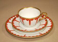 Rosenthal Vera - Art-Deco 20er Jahre Kubismus Porzellan Kaffeetasse 3-tlg Gedeck